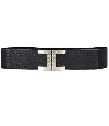 caripe Stretchgürtel Taillengürtel - viele Modelle und Farben - stinar (65 - schwarz)