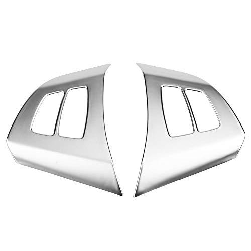 EBTOOLS 2 STÜCKE Auto Lenkrad Taste Rahmen Dekoration Trim Abdeckung für X5 E70 2008-2013