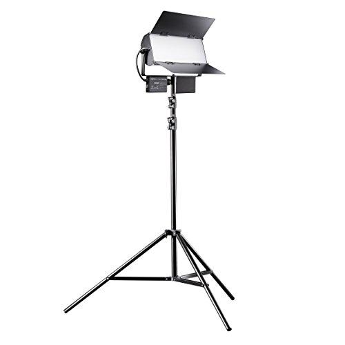 Walimex Pro LED Sirius 160 Daylight Set mit Stativ, Flächenleuchte, Studioleuchte, 65 Watt, 6000 Lumen