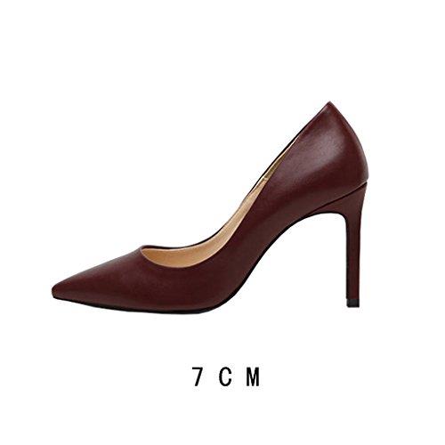 FLYRCX Semplice moda donna autunno inverno professional sharp bocca sottile con Lady scarpe con i tacchi alti H