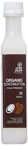 Pure & Sure Organic Coconut Oil, 250ml