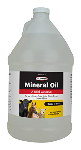 Durvet Mineral Oil for Farming Livestock Care Equipment Mild Laxative Gallon