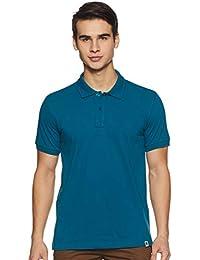 Amazon Brand - Symbol Men's Solid Regular fit Half Sleeve Polo