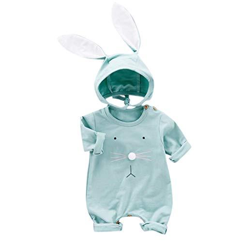 Frühchen Strampler Mädchen Junge Kind Cartoon Kaninchen Strampler + Ohren Hut Kostüm Overall Outfits (Igel Kostüm Kleinkind)