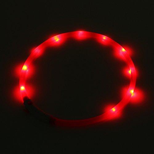 2-TECH LED Visio Leuchthalsband in PINK Deluxe für Hunde und Katzen universell kürzbar, Halsumfang bis 55 cm - 2
