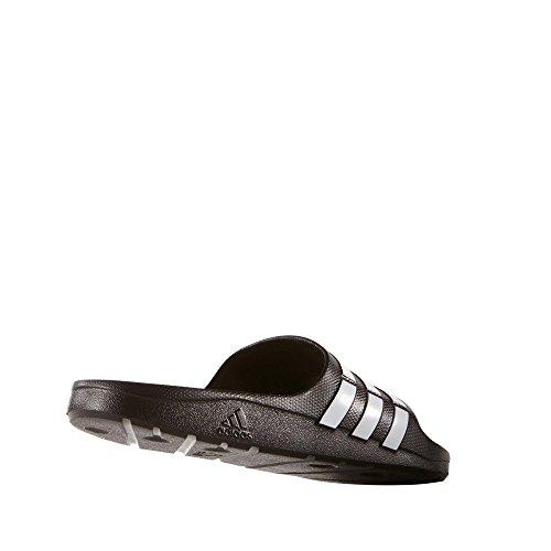 Adidas Duramo Slide, Ciabatte da Unisex Adulto schwarz-weiss-schwar