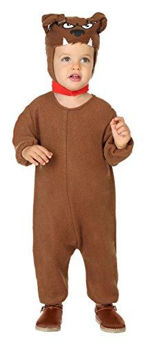 ATOSA 38784 Hündchen Kostüm, Unisex-Kinder, mehrfarbig, 0-6 Monate (Chips Kostüm)