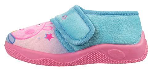Girls Peppa Pig & Teddy Slipper Shoes Soft Novelty UK Sizes 5-10