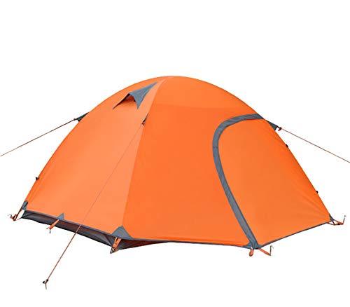 2-3 Personen Camping Zelt Outdoor Zelte liefert wasserdichte Schatten Baldachin zum Wandern Bergsteigen-orange