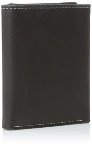 Timberland Men s Black Genuine Leather Hunter Trifold Wallet