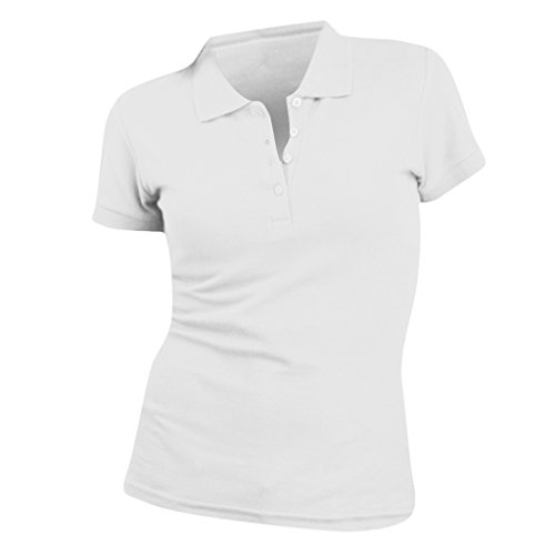 SOLS People Damen Polo-Shirt, Kurzarm (Small) (Weiß) (- Kurzarm Polo Shirt Kragen)