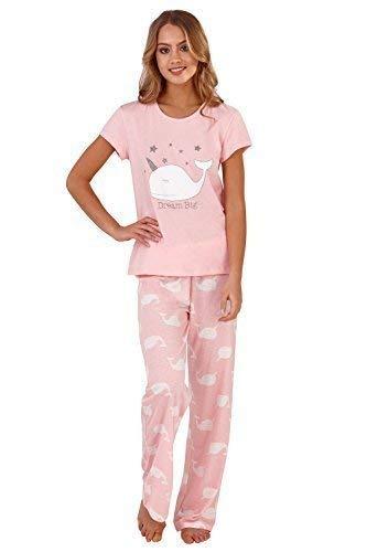 Loungeable Boutique - Pijama - para Mujer Rosa Pink Narwhal Pyjamas Talla S