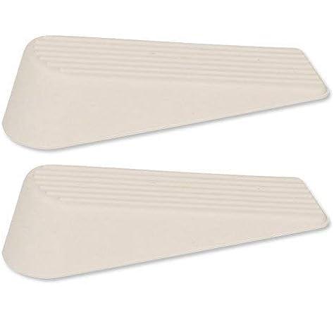 Rubber Anti Slip Door Holder Wedge Pack of 2 White, Select Hardware Stop