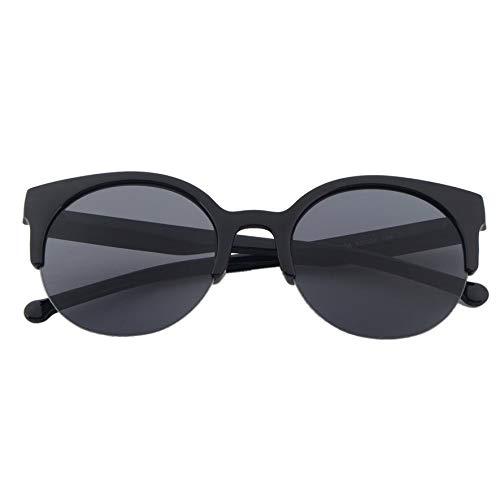 LmqhGzuqume Fashion Unisex Classic Round Circle Frame Halbrandlose Brillen Sonnenbrillen (Schwarz)