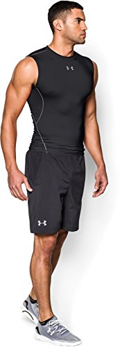 Under Armour Herren Fitness T-Shirt und Tank HG Sleeveless Tee Schwarz