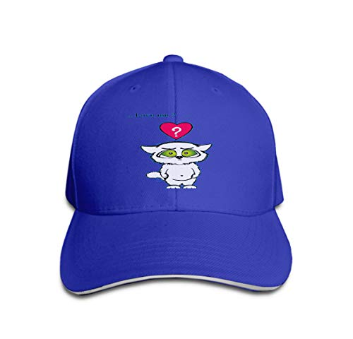Kostüm Kitty Kat - Classic Unisex Baseball Cap Adjustable do You Love me Cute cat Valentine Card Blue Funny Kitty Colorful red Hearts Banners Cards Messages