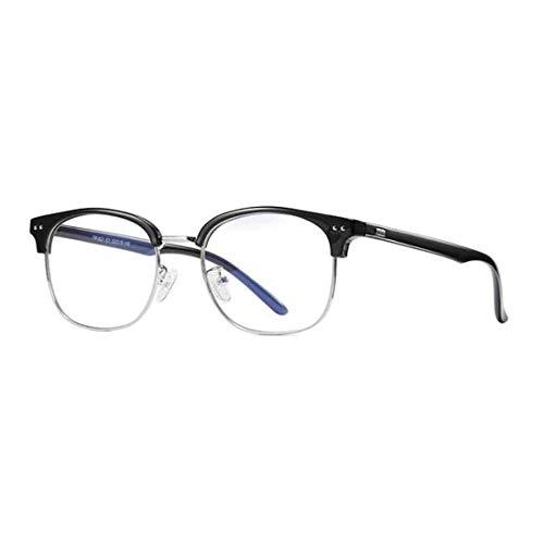 IOSHAPO Männer Frauen Vintage Classic Half Frame Klarglas Brille