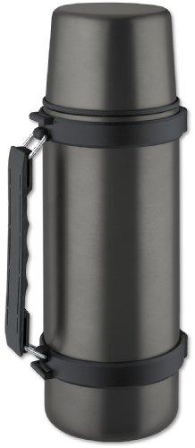 Isosteel VA-9553AT Isolierkanne mit Schraubverschluss, 1,0 L, Titan-Grau, Edelstahl, 9.4 cm