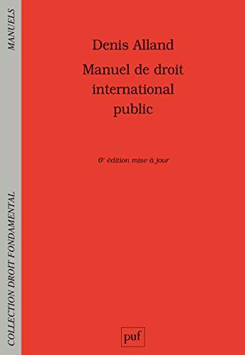 Manuel de droit international public par  (Broché - May 1, 2019)