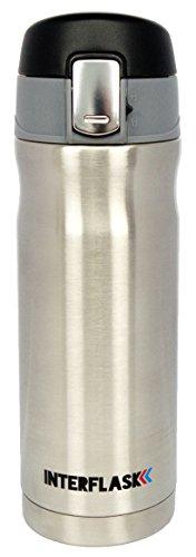 Taza de viaje leakproof by interflask-Aislamiento Termo Que Mantiene el café caliente durante horas-Una operación de la mano con prueba de derrames de bloqueo de