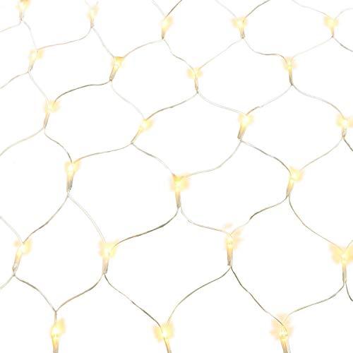 Gresonic rete di luci led, varie tipologie, luce bianca calda, decorazione per interni e esterni, per giardino, natale, matrimonio, con spina 160er warmweiß