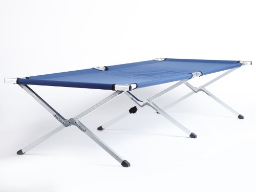 31nEARnlw6L - Skandika Camping Bed XXL Comfortable Camping Lounger 210 x 80cm