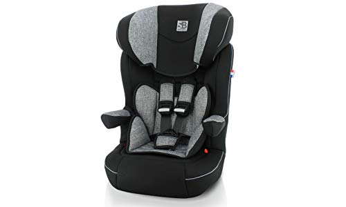 Siège auto isofix IMAX groupe 1/2/3 (9-36kg)-3 étoiles aux tests ADAC - gris - Safety Baby NANIA