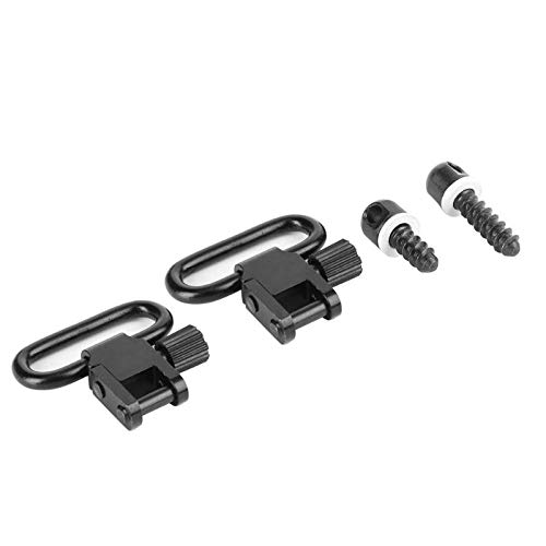 NO LOGO XBF-Swivel, 2pcs Quick Detach Sling Wirbel Screw Stud Hunting Strap Ring Zubehör -