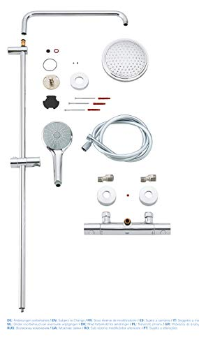 Grohe – Duscharmatur Euphoria mit Thermostatfunktion, DreamSpray, SpeedClean, Chrom - 8