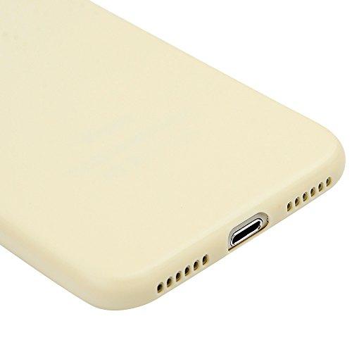 iPhone 7 Hülle Kasos iPhone 7 4,7 Zoll Schutzhülle Schrubben TPU Silikon Case Ultra Dünn Tasche Handy Cover Handytasche Softcover in Rosa Beige