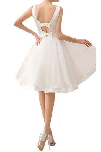 TOSKANA BRAUT Brautmode Armlos Knielang Abendkleider Kurz Organza Satin Braut Cocktail Ball Hochzeitskleider Salbei