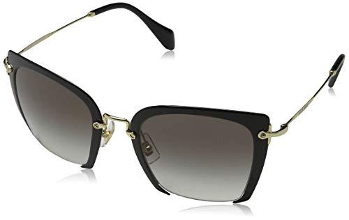 Miu Miu Damen 0MU52RS 1AB0A7 52 Sonnenbrille, Schwarz (Black/Grey),
