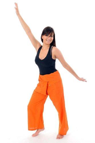 - Pantalon Thai Fisherman orange - taille unique