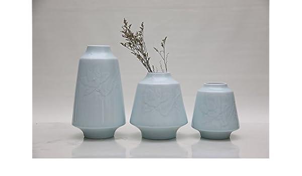 China palaeowind Blumenvasen dreiteilige Keramik-Dekorationen ...