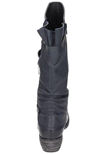 Rieker Damen 93151 Kurzschaft Stiefel Ryan, Nougat/Kastanie/Steppe
