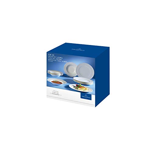 Villeroy & Boch 10 - 4153 - 7609 For Me - Vajilla Set de 12 Piezas, Porcelana, Color...
