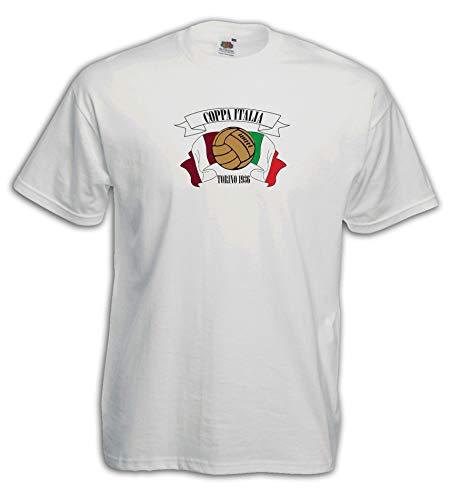 Settantallora - Camiseta J3547 Coppa Italia Torino Vintage Football Bianco XXL