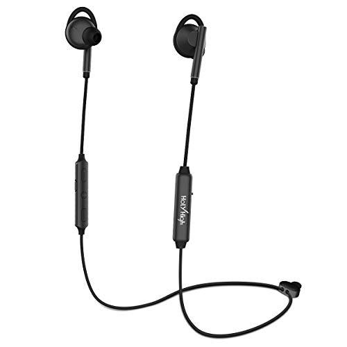 HolyHigh Bluetooth Kopfhörer in Ear ANC Sport Bluetooth 4.2 HiFi Noise Cancelling Kopfhoerer IPX5 Wasserdicht 4-8 Stunden Spielzeit Kopfhörer Kabellos mit Mikrofon für iPhone iPad Samsung Huawei - Hi-fi Bluetooth-kopfhörer