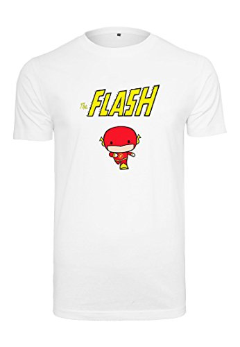 MERCHCODE Herren The Flash Comic Tee T-Shirt, White, L