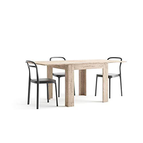 Mobilifiver eldorado tavolo allungabile da pranzo, nobilitato, quercia, 90 x 90 x 77 cm, rettangolare