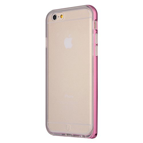 BASEUS Ultra Alloy Slim Bumper cadre TPU Retour Case Hippocampus Buckle Pour iPhone 6 6 Plus iPhone rouge vif 6
