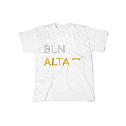 licaso Herren T-Shirt mit BLN ALTA Sprache Aufdruck in White Gr. XXXXL Design Top Shirt Herren Basic 100{23cc0243d907ee618dcf018b4574feb384bf42544c5257c7c69e52efbda8242b} Baumwolle Kurzarm