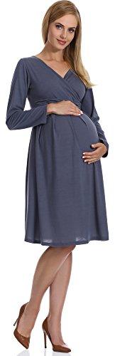 Be Mammy Robe de Grossesse Femme Samantha Graphite