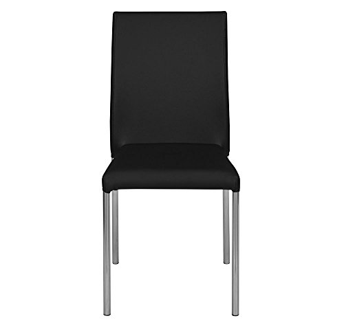 @home by Nilkamal Maize Single Seater Dining Chair (Black)
