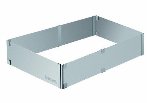 Tescoma Verstellbarer rechteckiger Backrahmen Delicia, Edelstahl, Silber 19.8 x 5,8 x 29.1 cm