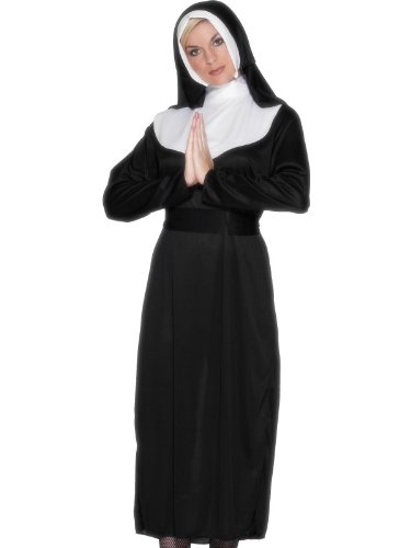 Kostüm Damen Brave - Smiffys Karneval Damen Kostüm brave Nonne heilige Ordensschwester Gr.L 44/46