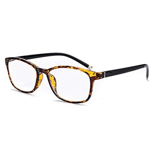 Lupe Asymptotische multifokale Brille, 3-Ebenen-Lesegeräte, Progressive Multifocus-Computerlesebrille, optische Brille, für Herren und Damen,Tortoiseshell,+3.0