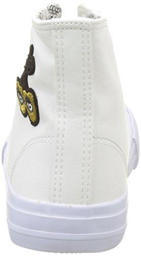 Le Temps des Cerises Origin High, Sneaker a Collo Alto Donna Blanc (Heart White)