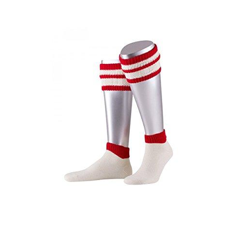 l Herren kurz | Wadenstrümpfe rot | Waden Wärmer fürs Oktoberfest (Rote Trachten Socken)
