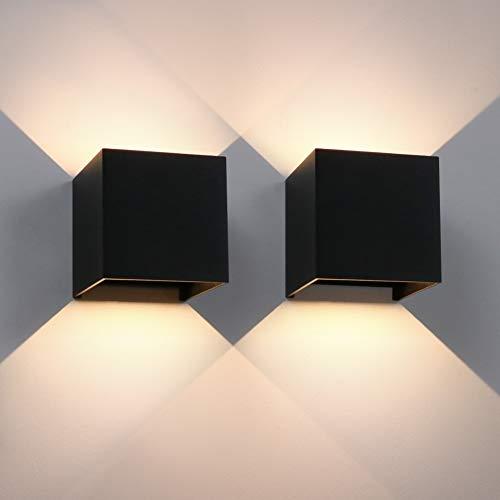 Aipsun 12W LED Wandleuchte 2er Pack Modern
